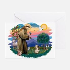 St Francis #2/ PBGV #4 Greeting Cards (Pk of 20)