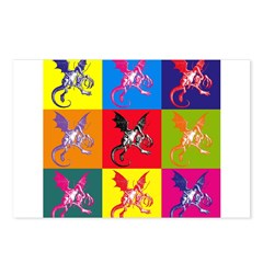 Pop Art Jabberwocky Postcards (Package of 8)