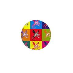 Pop Art Jabberwocky Mini Button (10 pack)