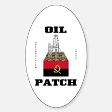 Angola Oil Patch Sticker(Oval)Oil,Gas,Oil Rig