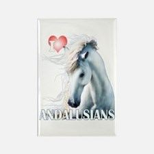I Love Andalusians Rectangle Magnet