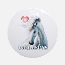 I Love Andalusians Ornament (Round)