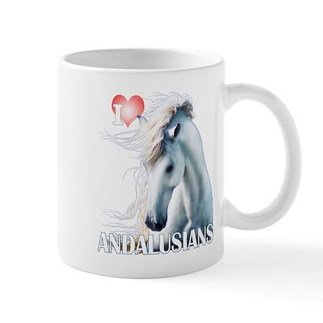 I Love Andalusians Mug
