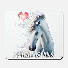 I Love Andalusians Mousepad