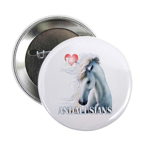 """I Love Andalusians 2.25"""" Button"""