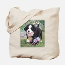 Soccer Berner Puppy Tote Bag