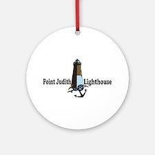 Galilee RI - Lighthouse Design Ornament (Round)