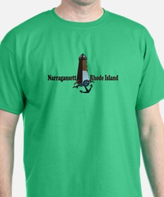 Narragansett RI - Lighthouse Design T-Shirt