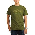 Think Green [text] Organic Men's T-Shirt (dark)