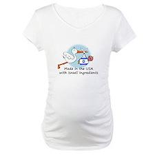 Stork Baby Israel USA Shirt