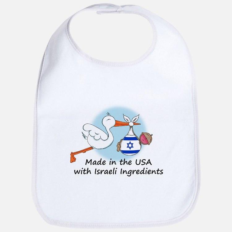 Stork Baby Israel USA Bib