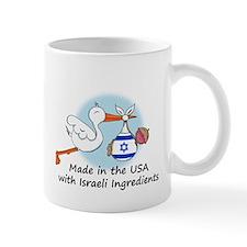 Stork Baby Israel USA Mug