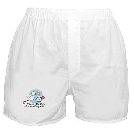 Stork Baby Israel USA Boxer Shorts