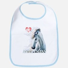 I Love Andalusians Bib