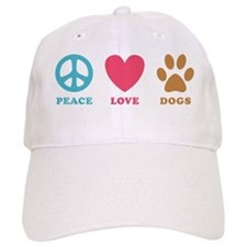 Peace Love Dogs Baseball Cap