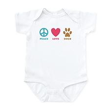 Peace Love Dogs Onesie