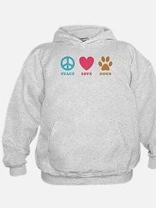 Peace Love Dogs Hoodie