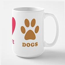 Peace Love Dogs Ceramic Mugs