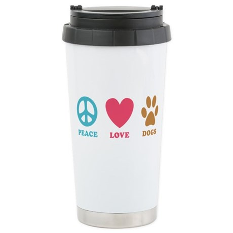 Peace Love Dogs Stainless Steel Travel Mug