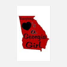 Everybody Loves a GA Girl (RB Sticker (Rectangle)