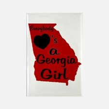 Everybody Loves a GA Girl (RB Rectangle Magnet