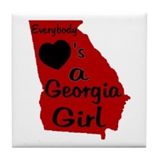 Everybody Loves a GA Girl (RB Tile Coaster