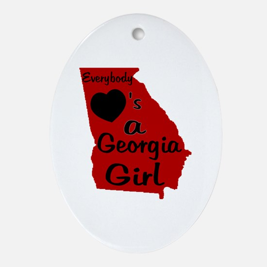 Everybody Loves a GA Girl (RB Ornament (Oval)
