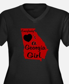 Everybody Loves a GA Girl (RB Women's Plus Size V-