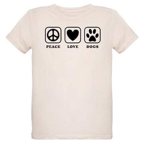 Peace Love Dogs [b/w] Organic Kids T-Shirt