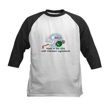 Stork Baby Pakistan USA Kids Baseball Jersey