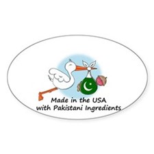 Stork Baby Pakistan USA Decal
