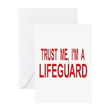 Cute Rescue swimmer Greeting Card