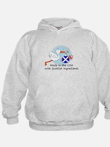 Stork Baby Scotland USA Hoodie