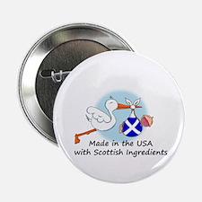 "Stork Baby Scotland USA 2.25"" Button"