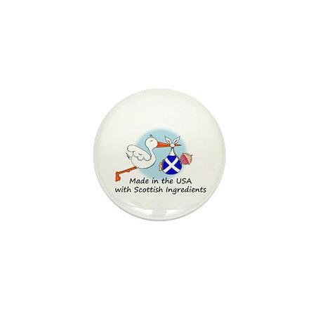 Stork Baby Scotland USA Mini Button