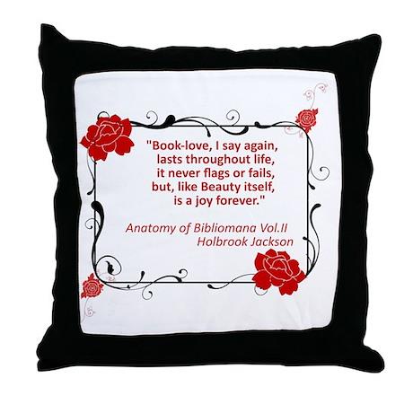Bibliomania Throw Pillow