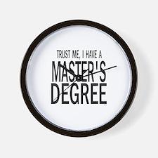 Unique Phd student Wall Clock