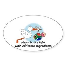 Stork Baby South Africa USA Decal