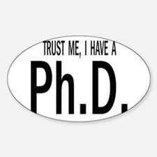 Unique Doctorate Sticker (Oval)