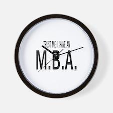 Unique Mba Wall Clock