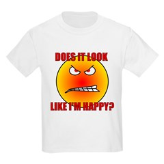 Angry Smiley Face Kids T-Shirt