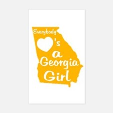 Everybody Loves a GA Girl (GW Sticker (Rectangle)