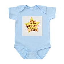 MY HUSBAND ROCKS Infant Creeper