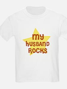 MY HUSBAND ROCKS Kids T-Shirt