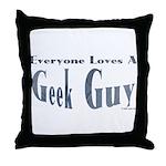 Love a Geek Throw Pillow