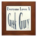 Love a Geek Framed Tile