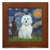 Maltese starry night Framed Tiles