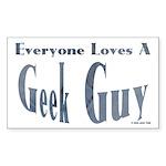 Love a Geek Rectangle Sticker