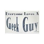 Love a Geek Rectangle Magnet (100 pack)