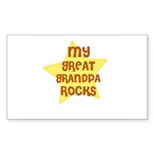 MY GREAT GRANDPA ROCKS Rectangle Decal